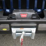Warn Winch mounted in a AEV Bumper